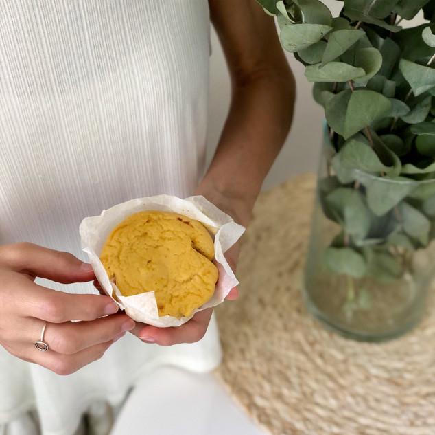 Magdalenas de limón y coco