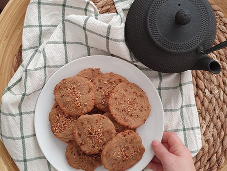 Galletas de trigo sarraceno y especies sin gluten y sin lactosa