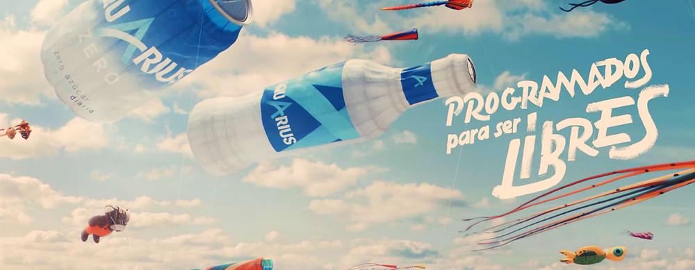 """Imagen de la nueva campaña de Aquarius """"Más fresco que nunca"""""""
