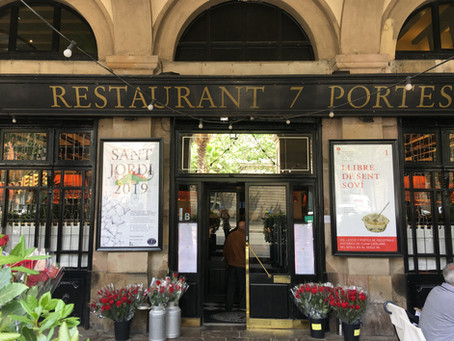 Magrana Taller diseña el cartel de Sant Jordi del Restaurante 7 Portes de Barcelona
