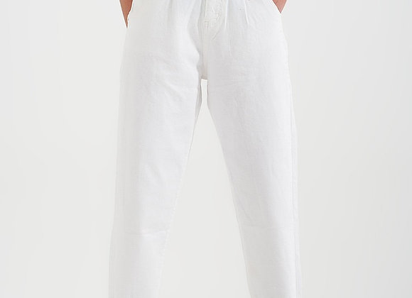 High Rise Mom Jeans With Pleat Front