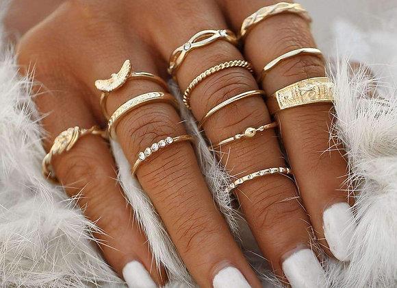 Golden/Silver Ring Set