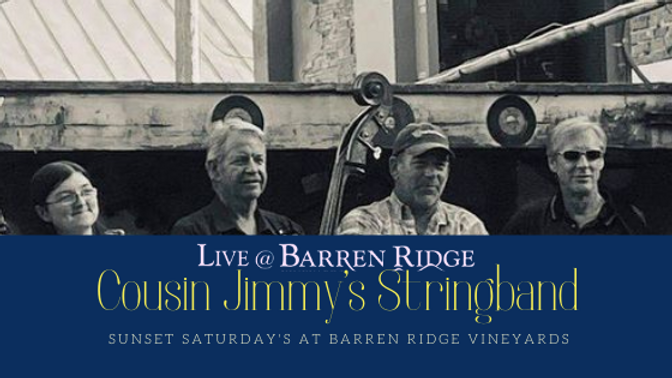 Sunset Saturdays with Cousin Jimmys Stringband 4-7PM