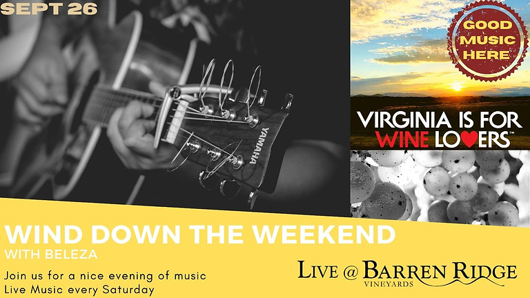 Wind down the Weekend with Beleza 3-6PM  (Brazilian & Latin Jazz, Samba, Bossa, and Soul)