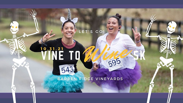 Vine to Wine Halloween 5k Back at Barren Ridge Vineyards!!!