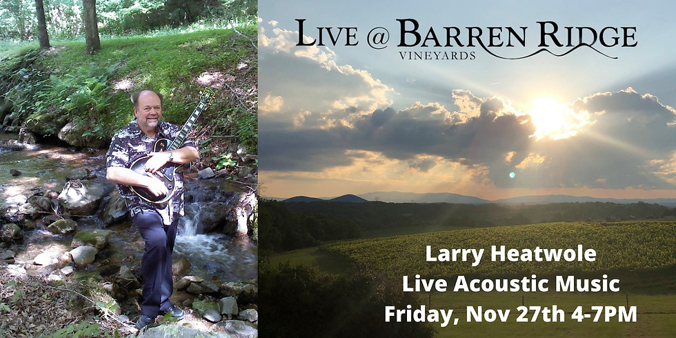 Acoustic Fridays with Larry Heatwole 4-7PM