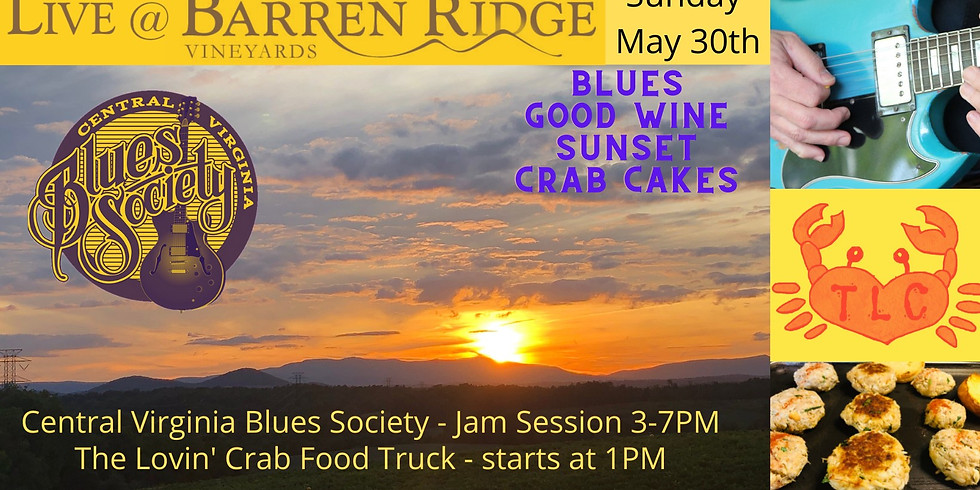 Sunday May 30th-Celebrate Memorial Day with Barren Ridge and The Central Virginia Blues Society. 3-7PM