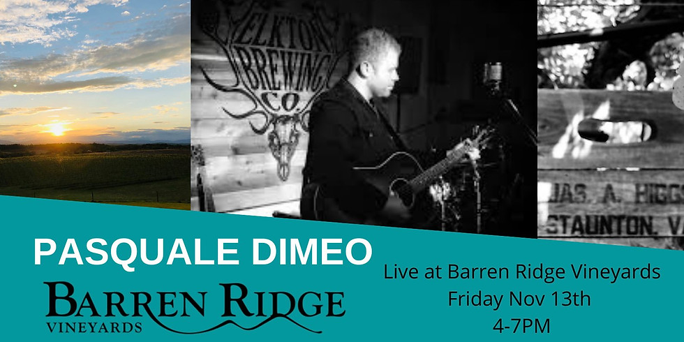 Acoustic Fridays with Pasquale Dimeo
