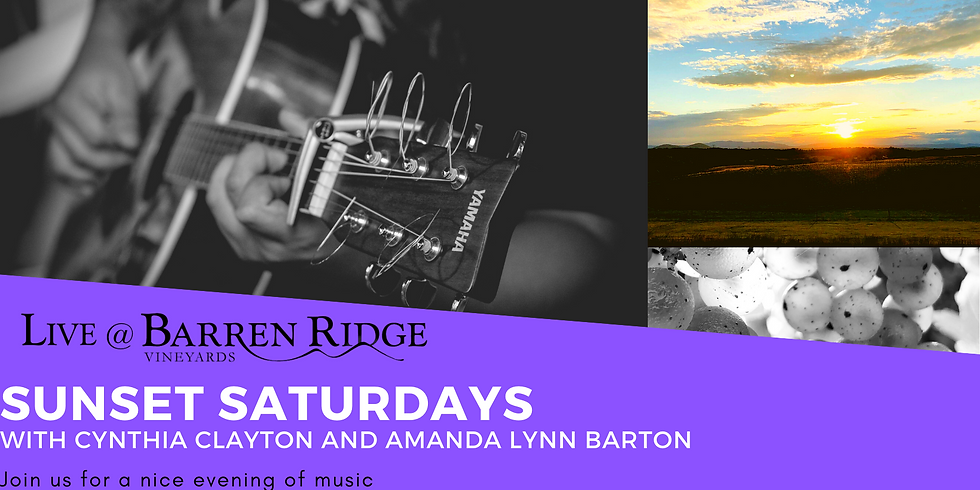 Sunset Saturdays with Cynthia Clayton and Amanda Lynn Barton