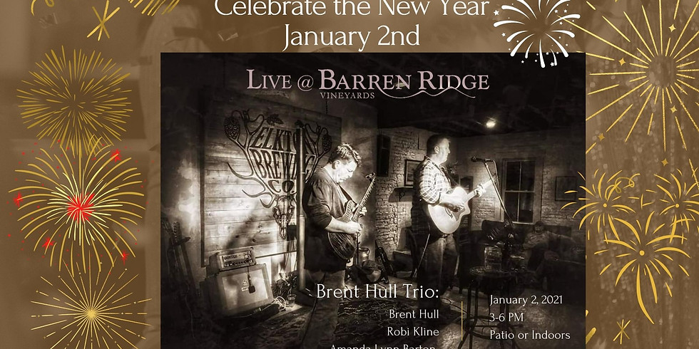 Ring in the New Year !! Sunset Saturdays with Brent Hull Trio 3-6pm