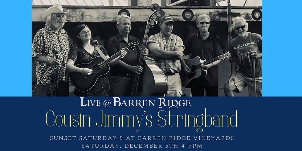 Sunset Saturdays with Cousin Jimmys Stringband 4-7PM  (1)