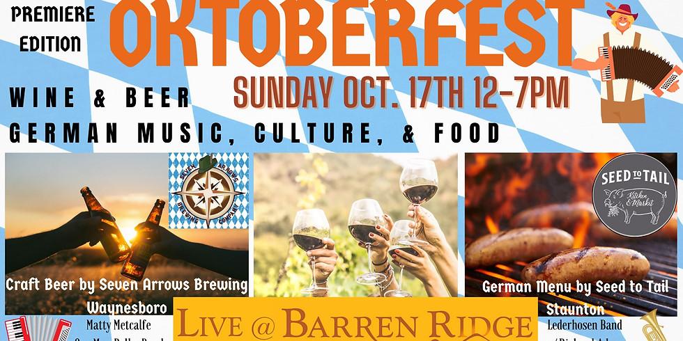 Oktoberfest at Barren Ridge - Celebrating German music, culture & food - Wine & Beer