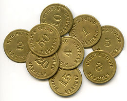 Higgs and Young Cooperage Coins