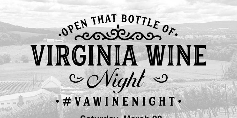 Open that bottle of Virginia Wine Night