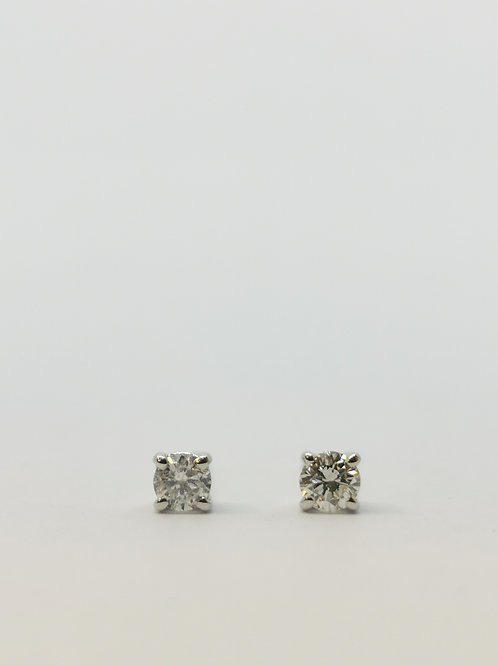 18ct White Gold 0.24ct Round Brilliant Cut Diamond Studs