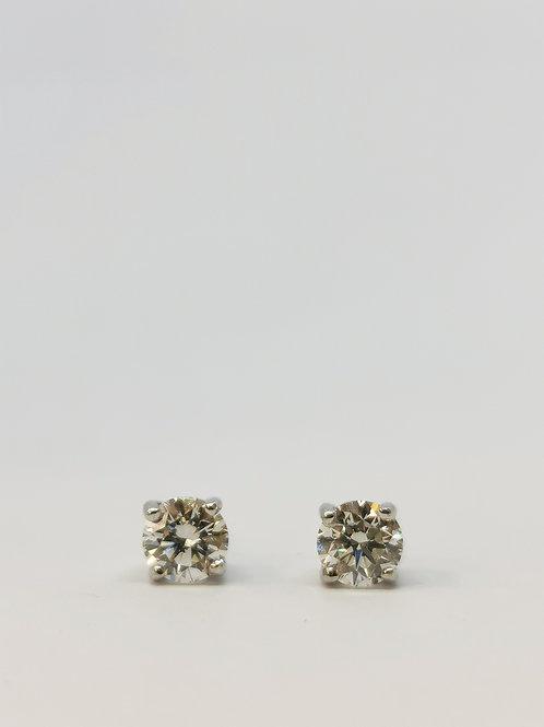 18ct White Gold 0.80ct Round Brilliant Cut Diamond Studs