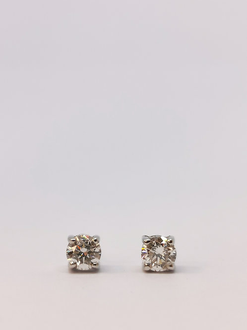 18ct White Gold 0.60ct Round Brilliant Cut Diamond Studs