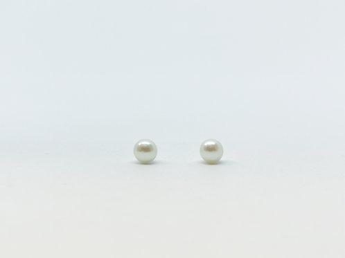 4mm Fresh Water Pearl Button Studs