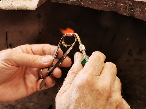 Ring Sizing in Wokrshop with Flame
