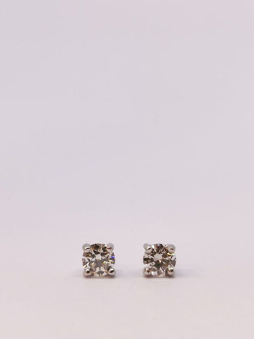 18ct White Gold 0.50ct Round Brilliant Cut Diamond Studs