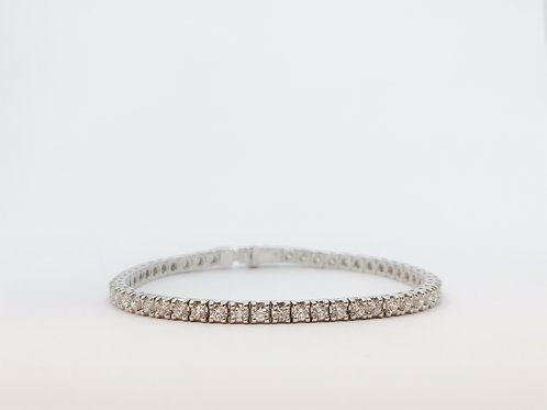 18ct White Gold 4.00ct Diamond Line Bracelet