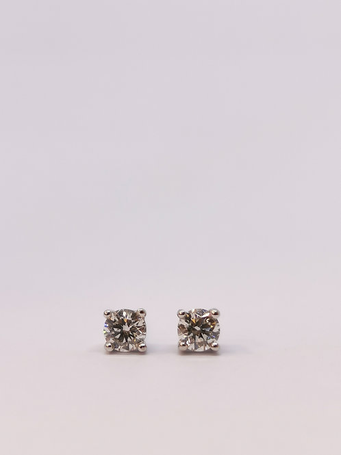18ct White Gold 0.50ct Round Brilliant Cut Diamond Studs