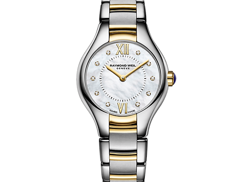 Raymond Weil 24mm Ladies Stainless/Gold Mother-of-Pearl Watch