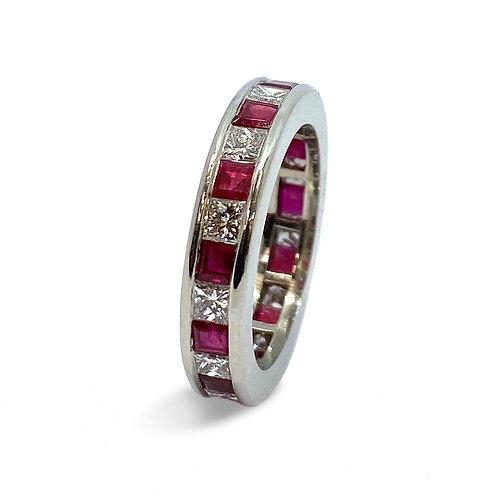 Ruby & Diamond Full Eternity Ring