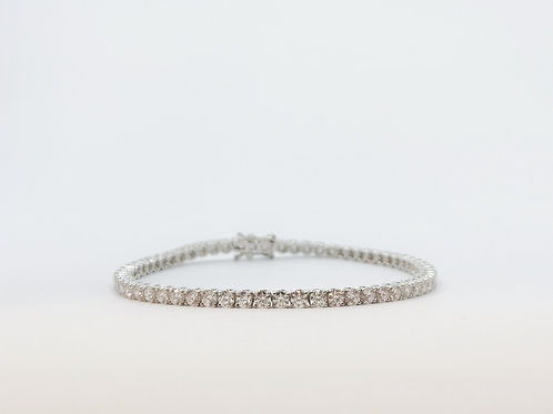 18ct White Gold 5.04ct Diamond Line Bracelet