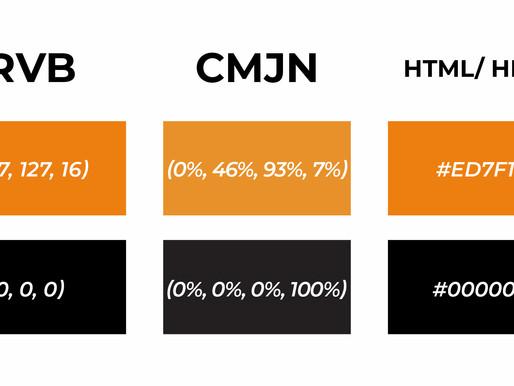 Codes de couleurs RVB (RGB),  CMJN (CMJK), HTML (HEXA) pour vos projets !