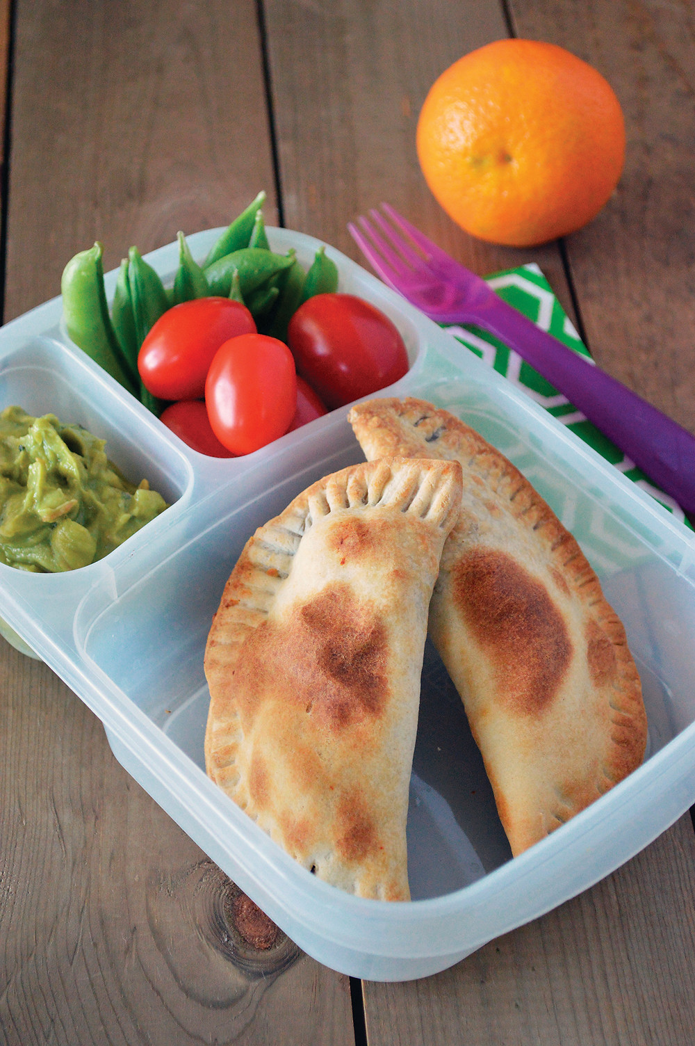 Black bean empanada lunch