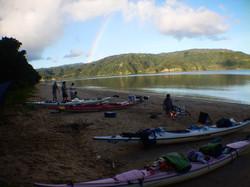 キャンプの新鮮な朝