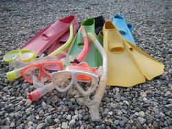 海遊び用 スノーケルマスク&フィン