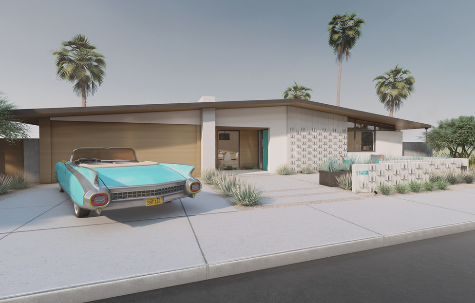 Midcentury House - Front View I