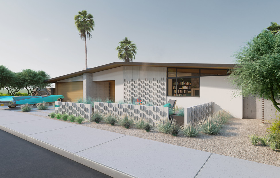 Midcentury House - Front View II