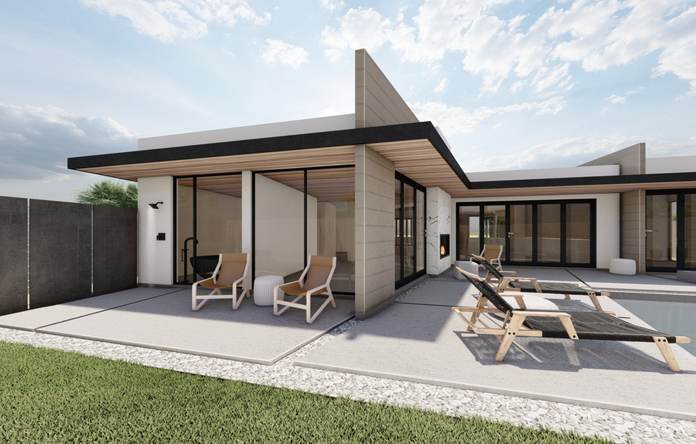 Bachelor Residence - Backyard