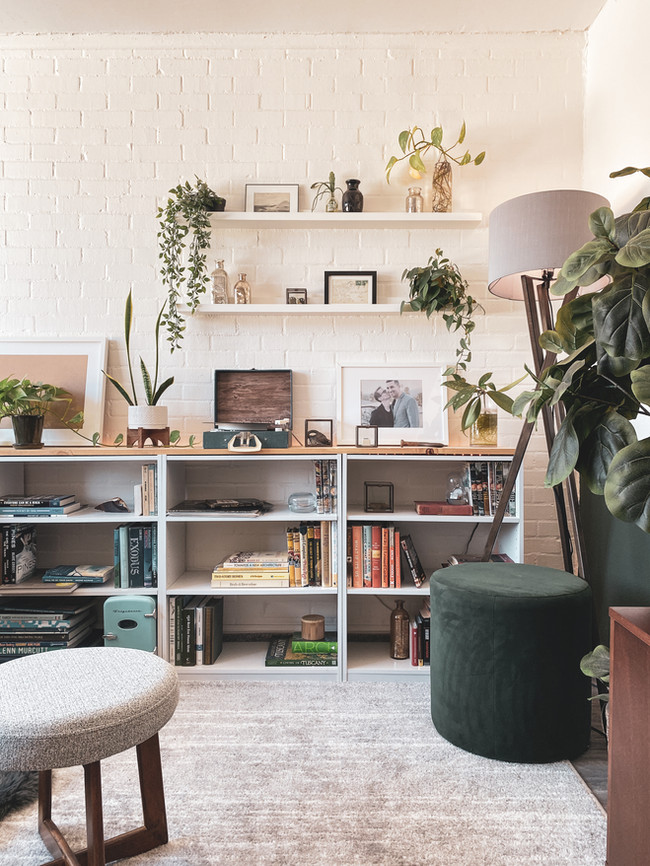 BWPDesign - Color Coordinated Shelving