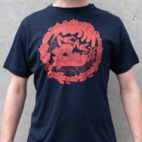 T-shirt Surfing Crab