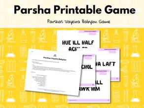Parshas Vayeira Printable Game