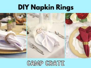Three DIY Napkin Rings