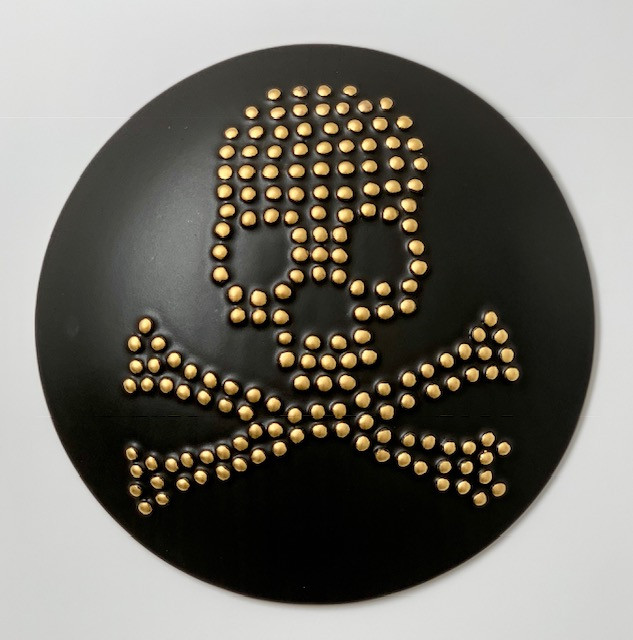"12"" Skull & Crossbones Wall Tile"