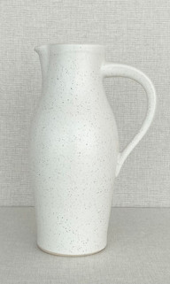 """12"""" Pitcher - Freckled White"""