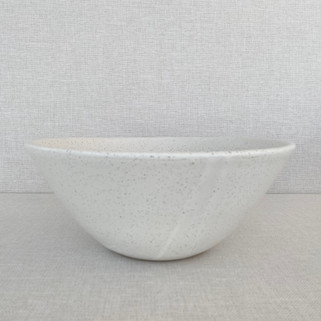 "12"" Serving Bowl - Freckled White"