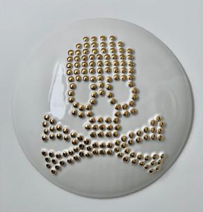 """12"""" Skull & Crossbones Wall Tile"""