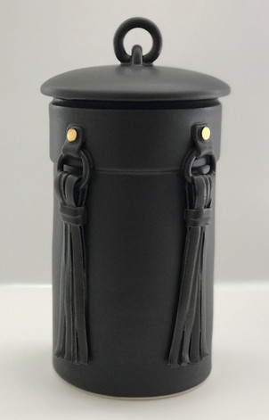 Lidded Tassle Jar