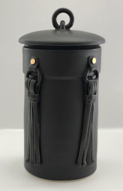 Lidded Tassle Jar