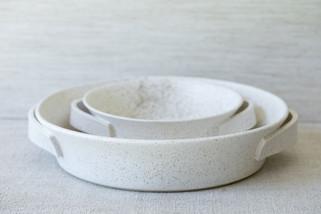 Roasting Dish Set (Available Separately) - Freckled White