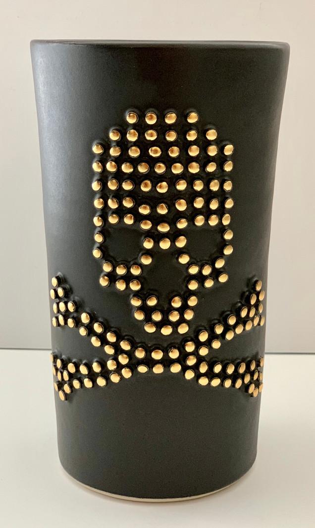 Skull & Crossbones Vase