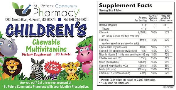 Free Multivitamin Program For Children