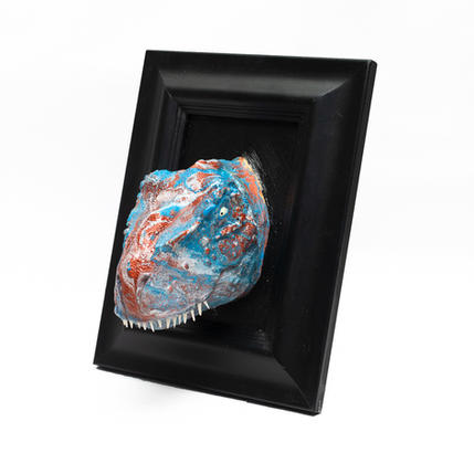 RED & BLUE ACRYLIC POUR REX FROM NZD $80
